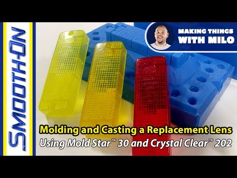 How to Create a Replacement Tail Light - Mold Making and Clear Casting Resin Demonstration