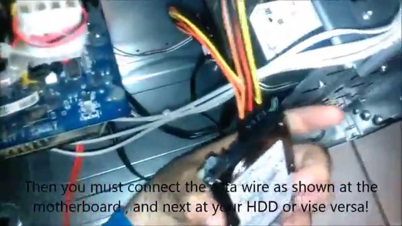 How to connect a hard drive from laptop to your pc - YouTube