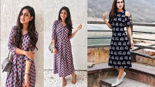 Long cotton maxi dresses collection/vacation outfits ideas/printed cotton long gown design ideas