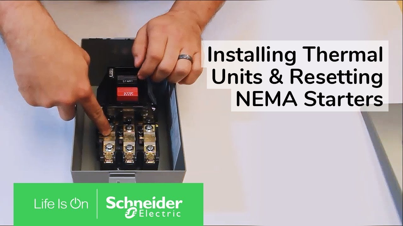 Installing Thermal Units Resetting Nema Class 2510 Manual Starters Square D Size 1 Starter Wiring Diagram Schneider Electric Support
