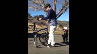 My brompton and dahon mu single speed folding bicycle.. Brooks