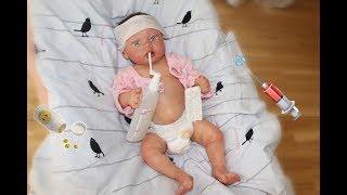Обложка на видео о Реборн заболел / лечение силиконовой куклы / малыш болеет