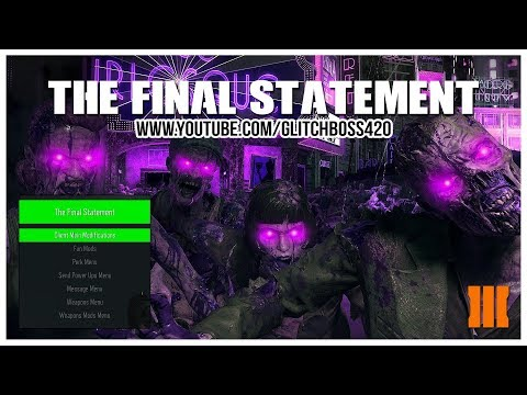 Call of Duty Black Ops 3: Zombies Mod Menu | The Final Statement | PC (2017)