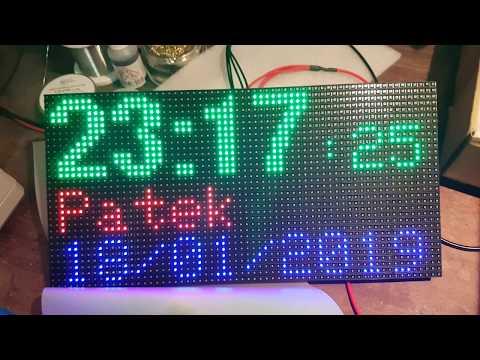 RGB Matrix Clock and Pressure