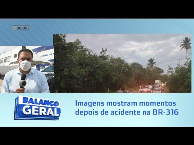Imagens mostram momentos depois de acidente na BR-316; condutor foi preso
