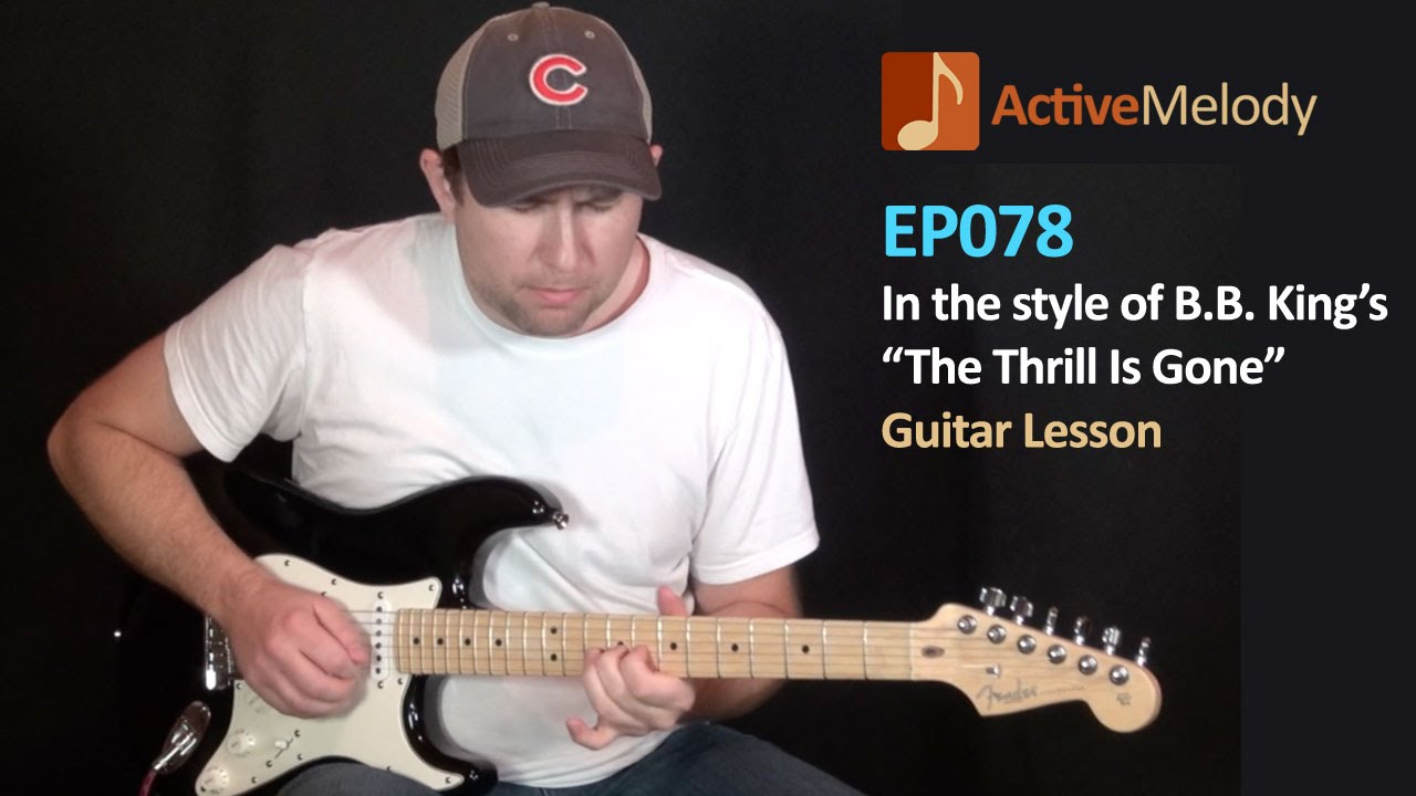 bb king thrill is gone style guitar lesson slow blues ep078 youtube. Black Bedroom Furniture Sets. Home Design Ideas