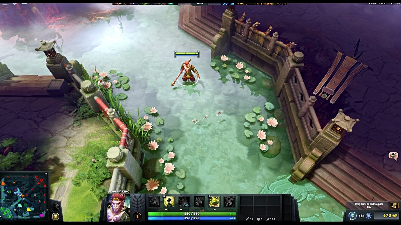 dota 2 monkey king terrain map 7 05 completely free youtube