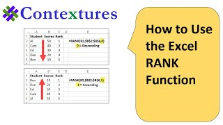 How to use the Excel RANK Function
