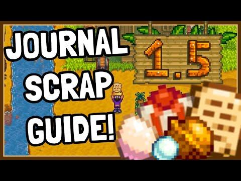 The NEW Lost Journal Scraps & Secrets in Stardew Valley 1.5!