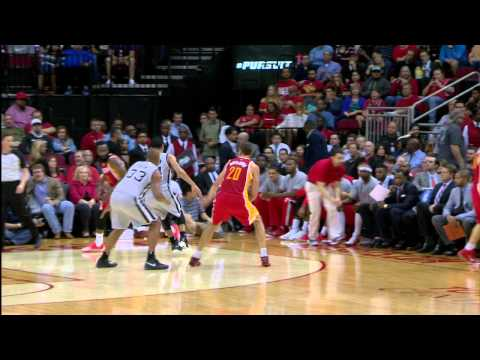 James Harden Reigns Down on Aron Baynes for the Poster Dunk