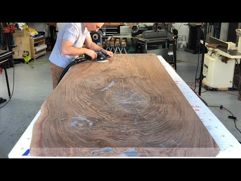 How To Make a Live Edge Slab Table – How To Woodworking