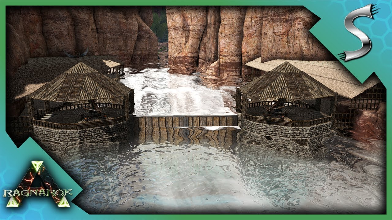 THE CANYONS RIVER DOCKING AREA! - Ark: RAGNAROK [DLC