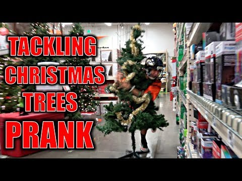 TACKLING CHRISTMAS TREES IN STORES PRANK**(BTS)**