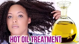 How To Do A Hot Oil Treatment for DRY, DAMAGED AND FRIZZY Hair