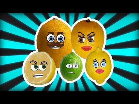 Lemon Finger Family Song Nursery Rhymes for Kids | Learning Fruits