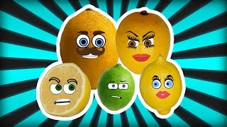 Lemon Finger Family Song Nursery Rhymes for Kids | Finger Family Fruits