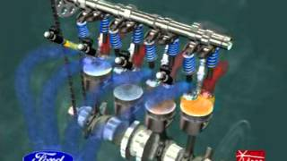 Animation Moteur 4 Temps / 4 stroke engine ( with all details )