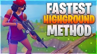 NEW PRO BUILDING TIPS! Insanely Fast Highground Method/Strategy (Fortnite Battle Royale)