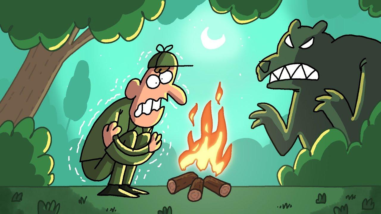 A Cold Night   Cartoon Box 238 by FRAME ORDER   Hilarious hunter cartoon