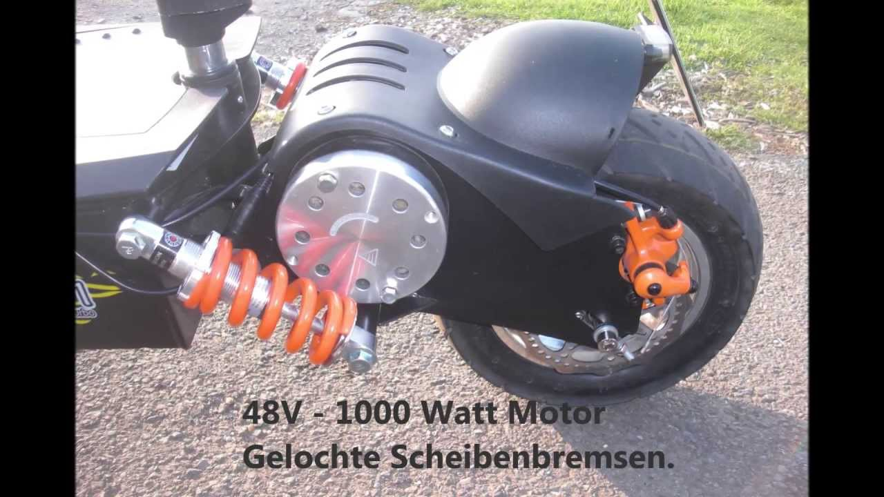 mach 1 e scooter 1000w 48v ber 45km h quick review youtube. Black Bedroom Furniture Sets. Home Design Ideas