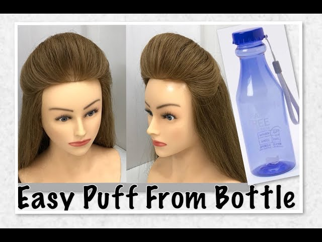 Puff Hairstyle From Bottle: Easy Puff Hairstyles