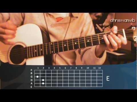 """Cómo tocar """"Eres"""" de Café Tacuba en Guitarra Acústica (HD) Tutorial - Christianvib"""