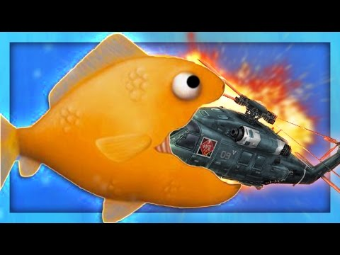 GOLDFISH EATS HELICOPTERS?! | Tasty Blue #1