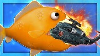 GOLDFISH EATS HELICOPTERS?! | Tasty Blue #1