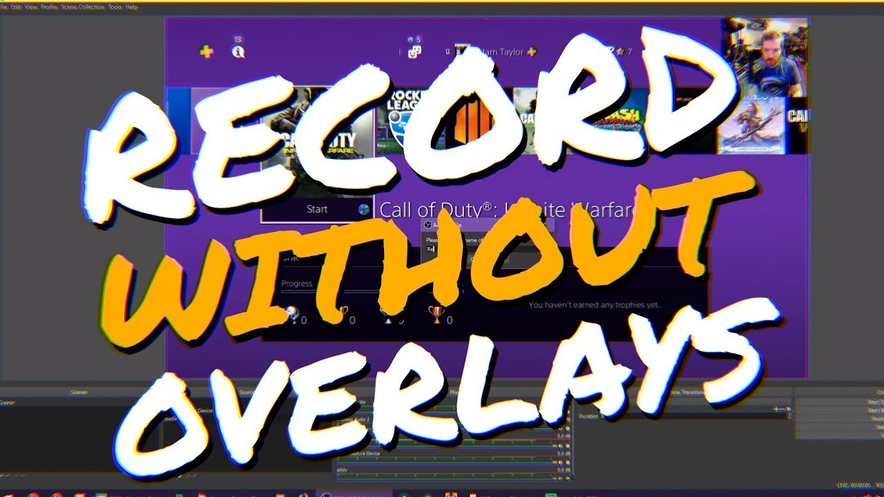 OBS Studio: How to Record without Overlays while Streaming! (OBS Studio &  StreamLabs OBS Tutorial)