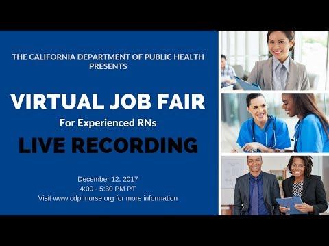 California Department of Public Health Nurse Surveyor Virtual Job Fair 2017