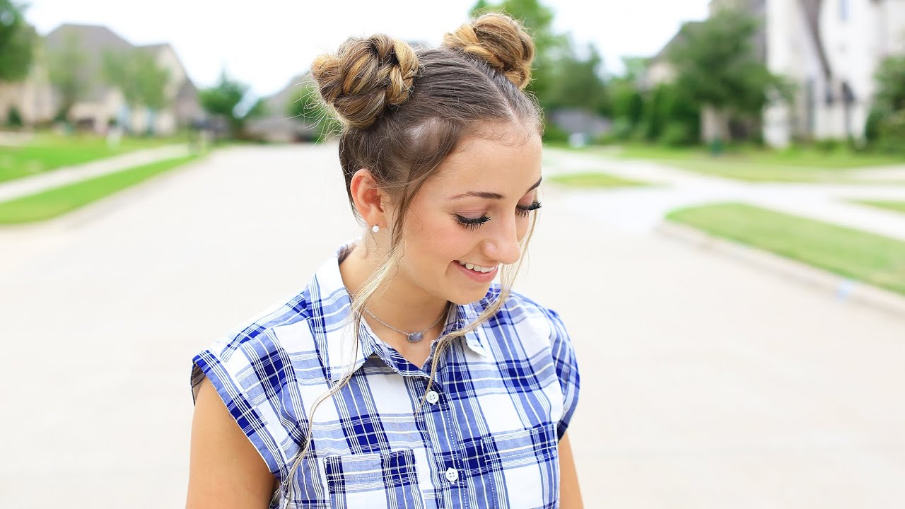 how to create double braided buns | back-to-school | cute girls hairstyles