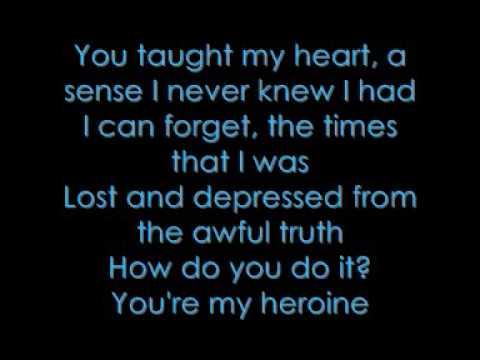 silverstien my heroine lyrics acoustic
