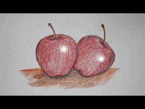 Cara Menggambar Buah Apel Untuk Anak Anak Youtube