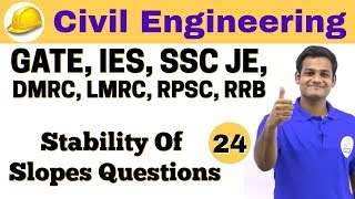 4:30 PM   Civil by Nikhil Sir   Day #24   Stability Of Slopes Questions