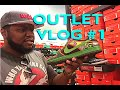 SNEAKER SHOPPING: Outlet Vlog #1 The Search for Big Feet Heat!