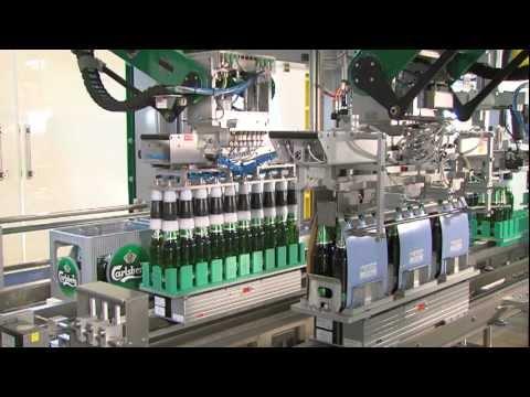 Flexible Verpackungsmaschine - Bierverpacken im Wunschformat