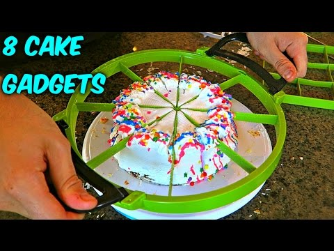 Thumbnail: 8 Cake Cutting Gadgets put to the TEST