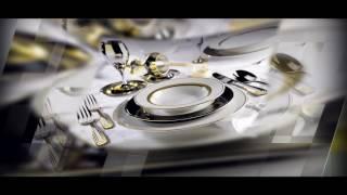 видео Подставка фарфоровая под яйцо  купить арт. 12574. Тунисский фарфор. Filet Or золото. VENDANGE