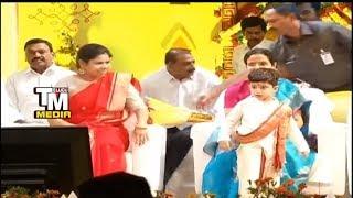 Akhilapriya And grandson devansh At ugadi Celeb...