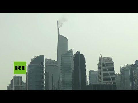 RT en Español: Incendio en un rascacielos de Dubái