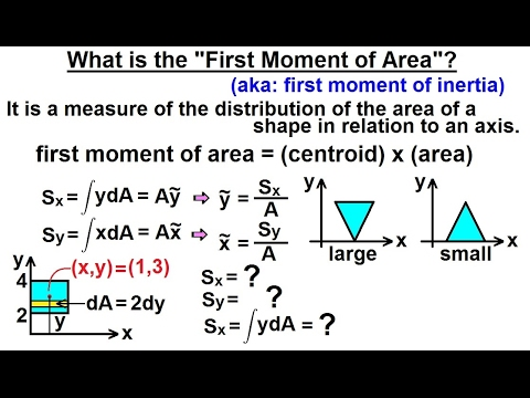 """Mechanical Engineering: Ch 12: Moment of Inertia (5 of 97) What is """"First Moment of Area""""?"""