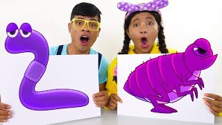 Learn Colors and Animal Names with Finger Paint Colours for Kids #4