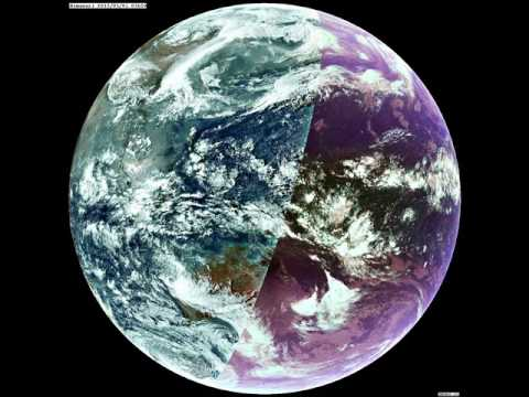The Earth from HIMAWARI satellite one day/night animation.