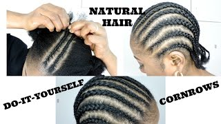 HOW TO CORNROW YOUR HAIR  ||  BEGINNERS FRIENDLY|| DIY