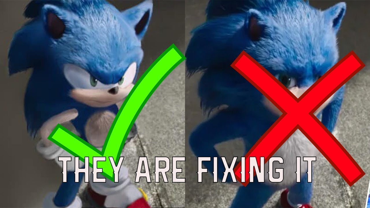 They Are Redoing The Sonic Design Sonic The Hedgehog Movie Youtube