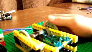 How to make a 2 cylinder lego pneumatic engine LPE