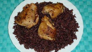Готовим   черным рис