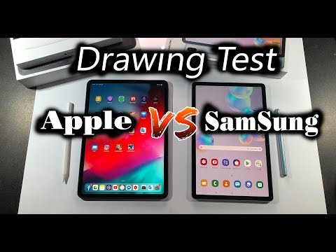 IPAD pro VS Galaxy Tab S6 - Which tablet is best for artists ? - Drawing Test