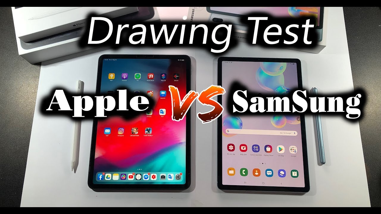 IPAD pro VS Galaxy Tab S6 – Which tablet is best for artists ? – Drawing Test