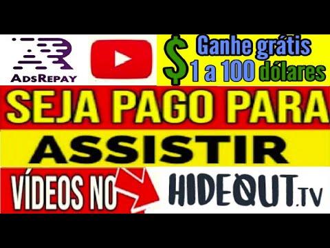 【AdsRePay】Ganhe $1 a $100 dólares no PayPal assistindo vídeo do Youtube e HideoutTV   #RendaExtra